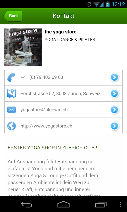 Yogashop- screenshot