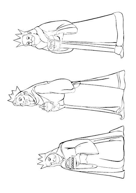 Colorear Los Tres Reyes Magos