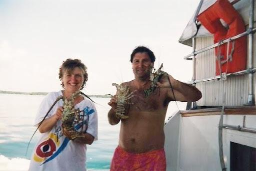 langostas, cayo banco, cuba, caribe, lobsters, Varadero, Cuba Caribbean vuelta al mundo, asun y ricardo, round the world