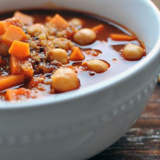Sweet Potato Chickpea Chili with Quinoa