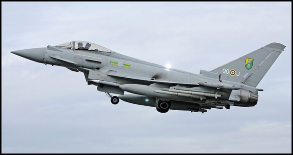 Avion Typhoon de la RAF