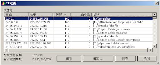 eMule IP過濾工具可以用來屏蔽指定IP