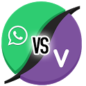 Viber vs Whatsapp icon