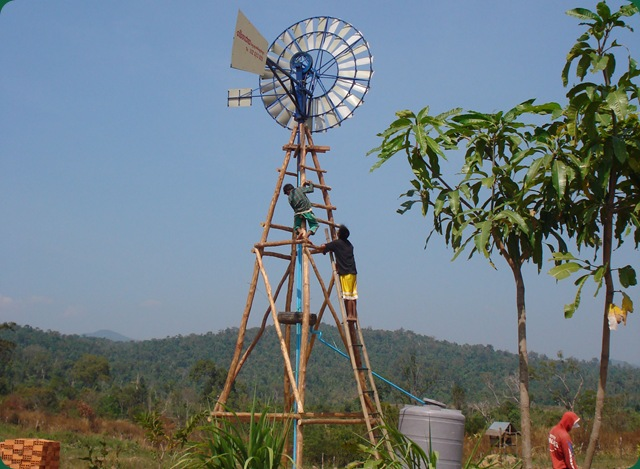 sokhavuth clock cambodian ngo creates wind powered water pump for