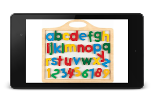 Screenshot of Alphabet, numbers and colors F