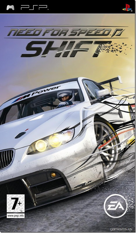 Need for Speed Shift PSP UK Cover