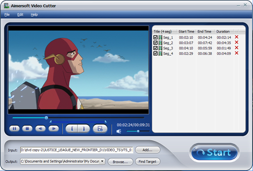 Aimersoft Video Cutter 2.5 FREE Serial Key