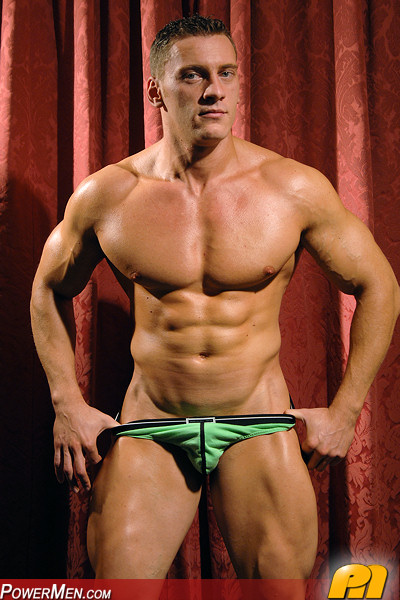 Xander - Muscle Hunk from PowerMen, kick-boxer and wrestler