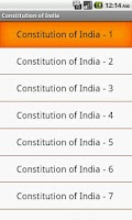 Screenshot of Constitution of India - MCQ