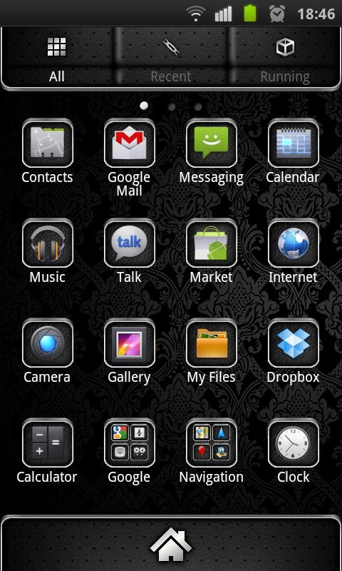 Elegant Theme 4 GO Launcher EX- screenshot