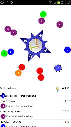 Sankt-Petersburg Metro Compass