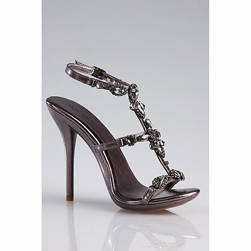 Pewter Heels For Wedding: Bridal Shoes: Strappy Pewter Shoes