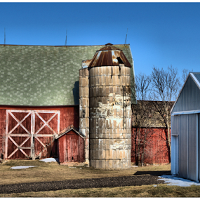 God, Family and Country  by Michael Priest - Buildings & Architecture Other Exteriors ( farm, wisconsin, barn )