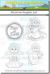 Musical Angels watermark set