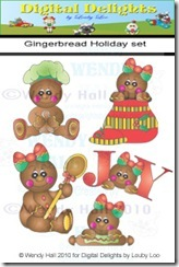 Gingerbread holiday set color watemark