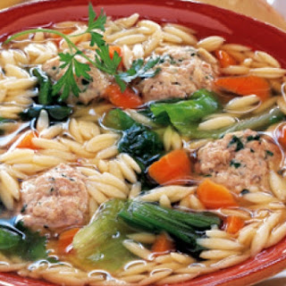 Turkey Soup with Orzo and White Beans