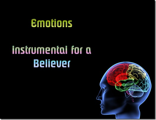 Emotions: Vital for Survival, Instrumental for a Believer