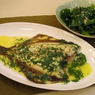 Baked Flatfish With Herb Butter And Foragers Salad