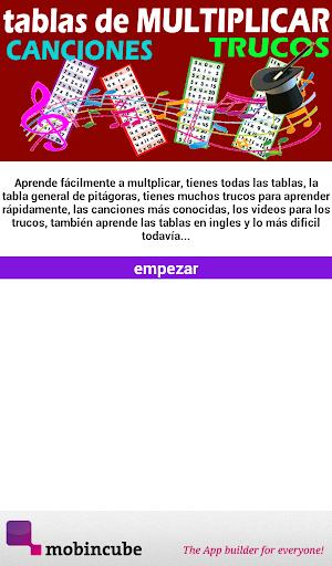 TABLAS DE MULTIPLICAR Y TRUCOS