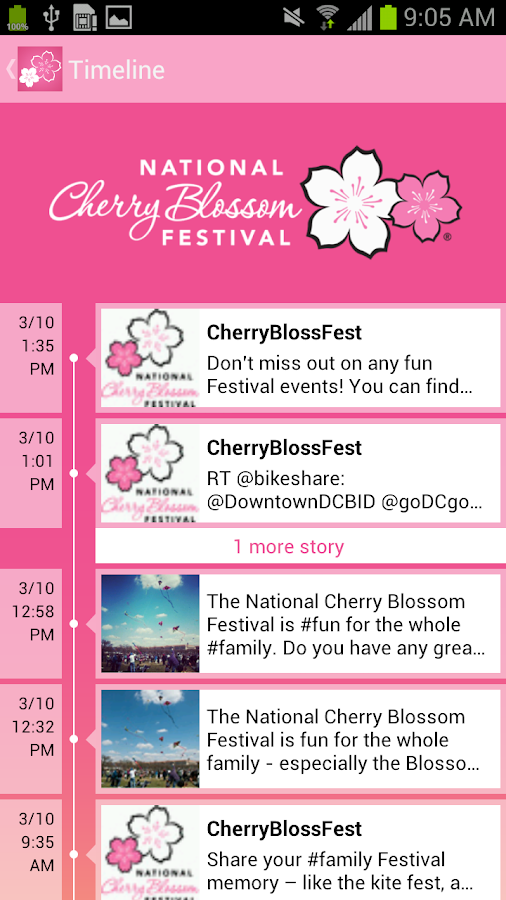 National Cherry Blossom Fest - screenshot