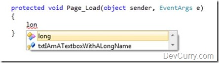 Intellisense VS 2010