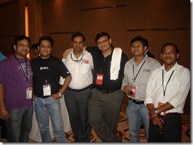 Left to Right - Ashish, Arjit, Nitin, Pinal, Suprotim and Sumit at Infragistics party