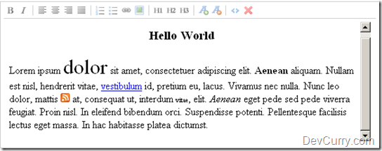 jQuery Rich Text Editor