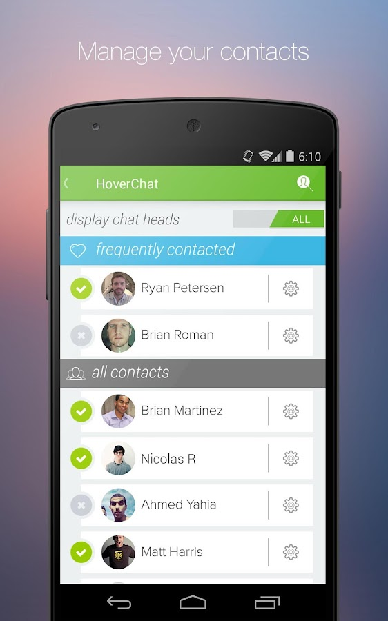 HoverChat (formerly Ninja SMS)- screenshot