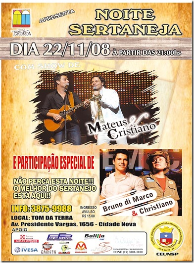 Tom da Terra - Cartaz Sertanejo