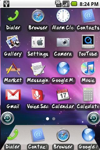 Snow Leopard OS x Theme ahome- screenshot