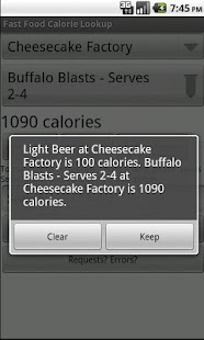 Fast Food Calorie Lookup - screenshot thumbnail