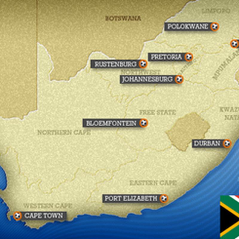 CM Africa de Sud 2010 :Orasele ce Gazduiesc Competitia !