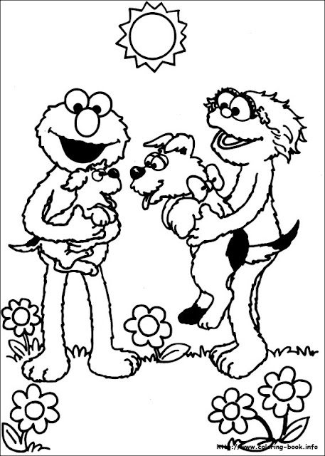 Barrio sesamo imprimir dibujos para colorear for Coloring pages of sesame street characters