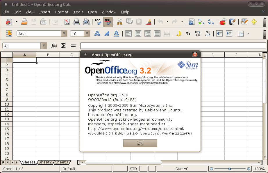 Install / Upgrade OpenOffice 3 2 From A PPA Repository