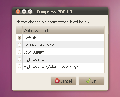 Nautilus Script To Compress PDF Files ~ Web Upd8: Ubuntu