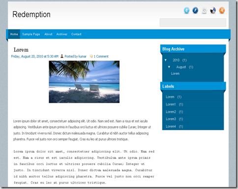 Redemption Blogger Template
