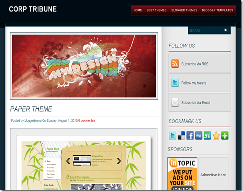 Corp Tribune Blogger Template