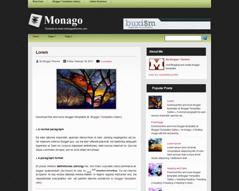 monago blogger template