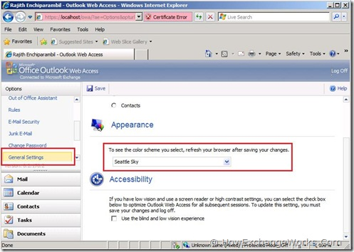 Themes In Outlook Web App (OWA) 2010… -