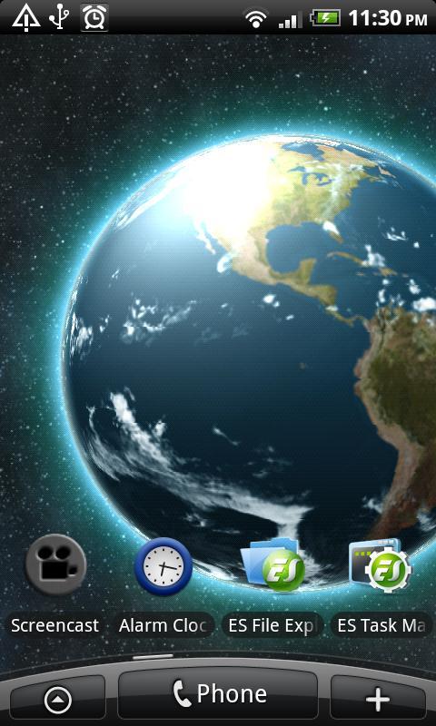 VA Earth Live Wallpaper Screenshot