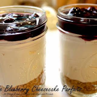 No-Bake Blueberry Cheesecake Parfaits.