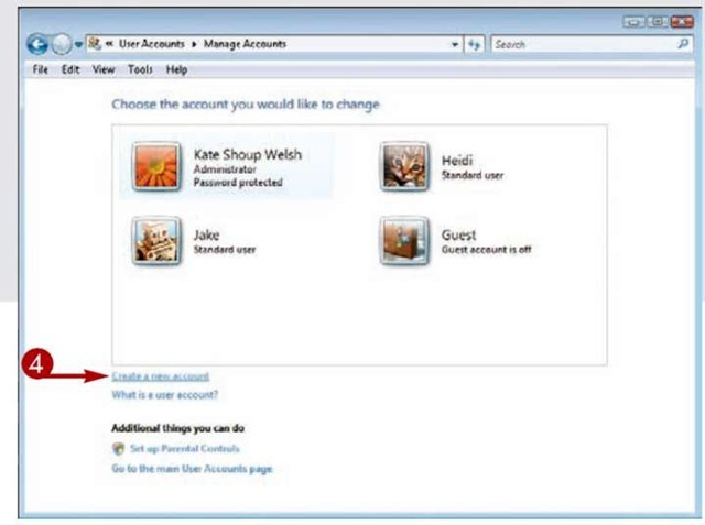 USER ACCOUNTS: Create a New User Account