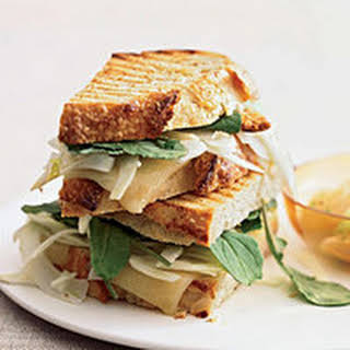 Grilled Cheese Sandwiches with Spicy Grapefruit Salad.
