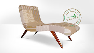Chaise Long Patwork Marron