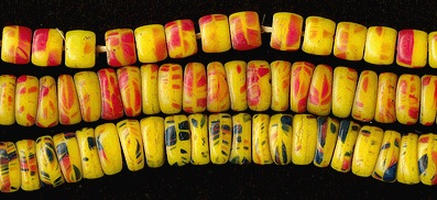 Multicolor Molded Kancamba Trade Beads