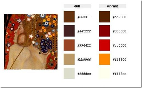 color palette23222