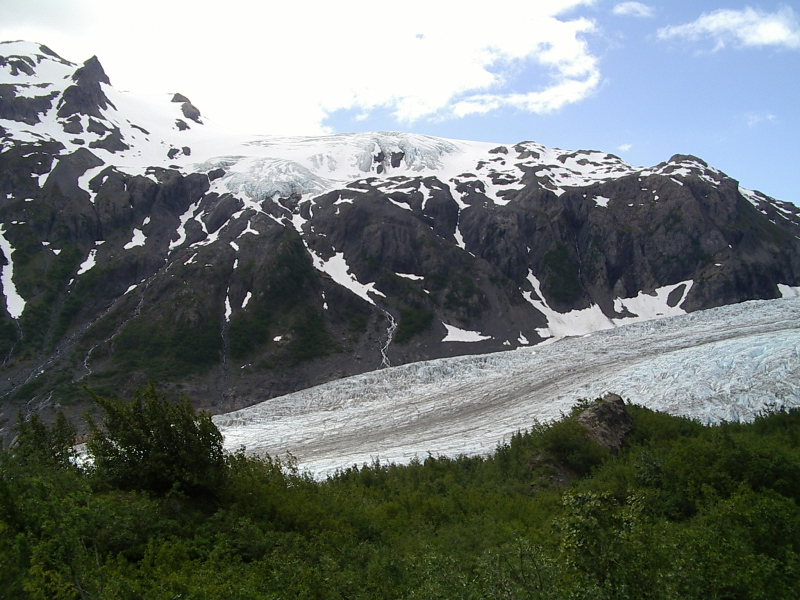 glaciers above and below