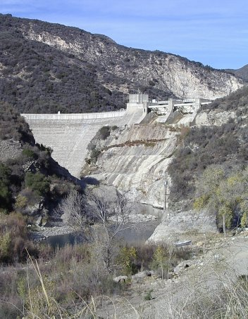 Gibralter Dam from below.