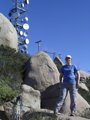 Me on top of Mt. Woodson.