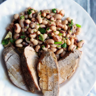 Quick and Easy Broiled Pork Tenderloin and Black-Eyed Pea Salad for Two